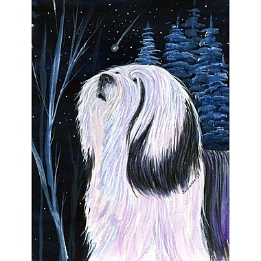 Caroline's Treasures Tibetan Terrier House Vertical Flag