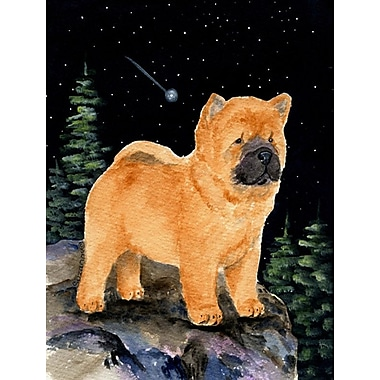 Caroline's Treasures Starry Night Chow Chow 2-Sided Garden Flag