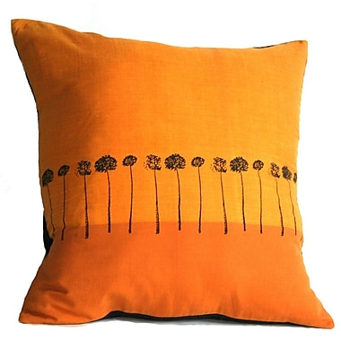Sustainable Threads Sunbound Stems Cotton Throw Pillow