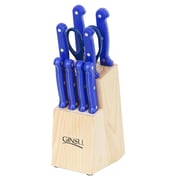 Ginsu Essential Series 10 Piece Block Set; Blue