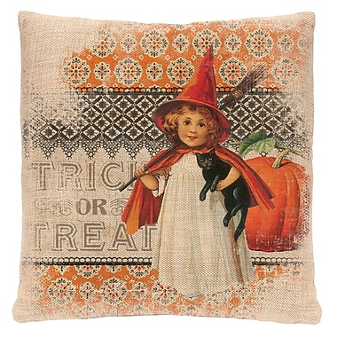 Heritage Lace Victorian Halloween Throw Pillow