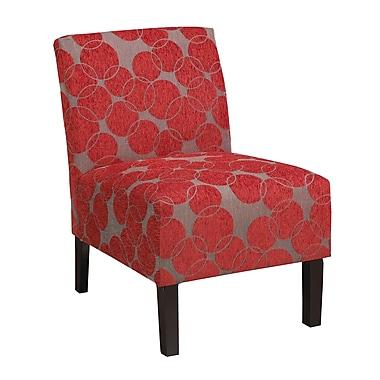 WorldWide HomeFurnishings Fabric Accent Slipper Chair; Red