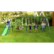 Natus Inc Rosemead Metal Slide and Swing Set