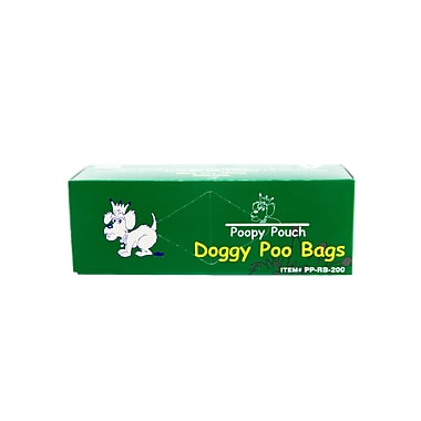 Poopy Pouch Heavy Trash Bags, Green, 10 Rolls/Case (PP-RB-200)