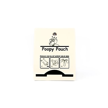 Poopy Pouch Pet Waste Bag Dispenser, Steel, 400 Bags (PP-EXP-BEIGE)