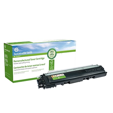 Staples® Sustainable Earth - Cartouche de toner noir, remise à neuf, compatible Brother TN210BK (SEBTN210BR)