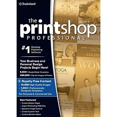 Encore The Print Shop Professional 4 with Bonus Easy Business Imprints [Download]