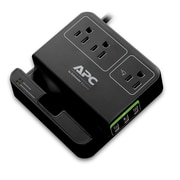 APC® Essential SurgeArrest Surge Protector and Charging Station, 3-Outlet, 6 ft (P3U3B-CA)