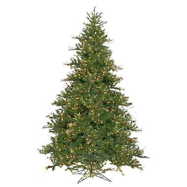 Vickerman Mixed Country Pine 9' Green Artificial Christmas Tree w/ 1100 Clear Lights w/ Stand