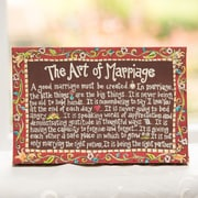 Glory Haus Art of Marriage Table Top Painting on Canvas; Large