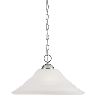 Thomas Lighting Elipse 1-Light Pendant; Brushed Nickel