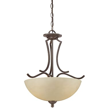 Thomas Lighting Triton 2-Light Inverted Pendant; Sable Bronze