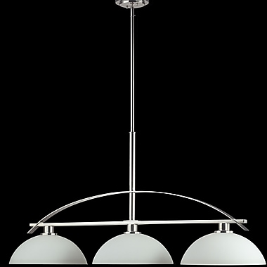 Z-Lite Ellipse 3-Light Kitchen Island Pendant; Chrome