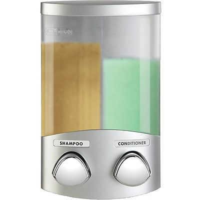 Better Living Products Euro Duo Dispenser w/ Translucent Containers; Satin Silver