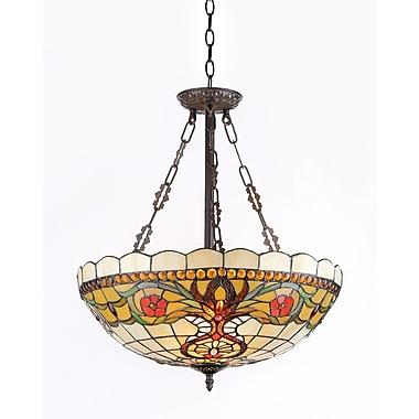 Chloe Lighting Berleena 3-Light Inverted Hanging Pendant