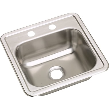 Elkay Dayton 15'' x 15'' Top Mount Bar Sink; 2 Holes