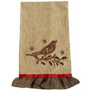 Xia Home Fashions Bird on Twig Emboridery Tea Towel