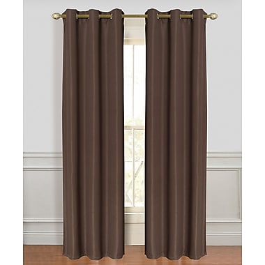 Dainty Home Tweed Blackout Curtain Panel (Set of 2); Gold