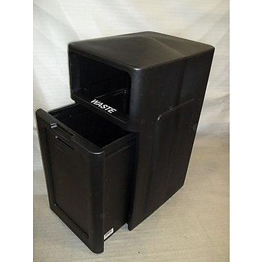 Forte Product Solutions Sidekick 39 Gallon Trash Can; Black