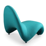 Ceets Tongue Lounge Chair; Blue