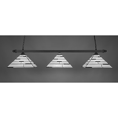 Toltec Lighting 3-Light Square Kitchen Island Pendant; Brushed Nickel