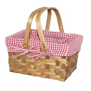 Quickway Imports Rectangular Lined Basket