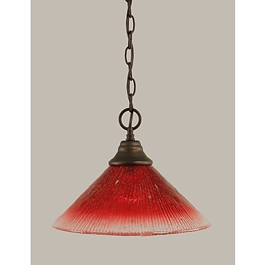 Toltec Lighting 1-Light Downlight Pendant; Bronze