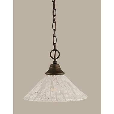 Toltec Lighting 1-Light Downlight Pendant; Bronze