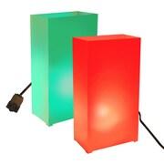 LumaBase Electric Luminaria Kit (Set of 10); Red/Green