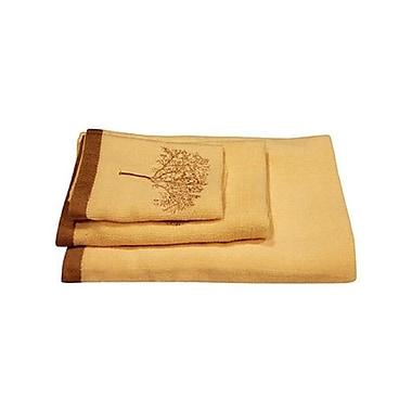 Dainty Home Arbor 3 Piece Towel Set; Ivory