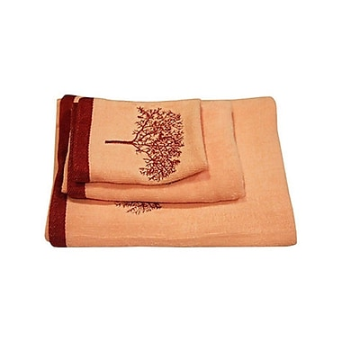 Dainty Home Arbor 3 Piece Towel Set; Pink