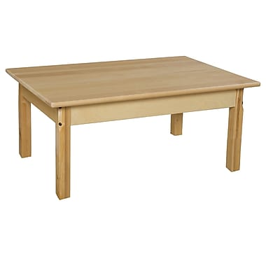 Wood Designs 36'' x 24'' Rectangular Activity Table; 17'' H x 36'' W x 24'' D