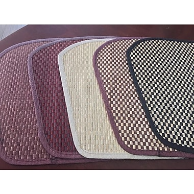 Dainty Home Pastry Bamboo Placemat (Set of 4); Brown