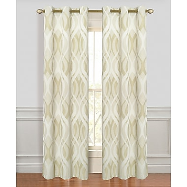 Dainty Home Metropolitan Geometric Blackout Curtain Panels (Set of 2); Sage