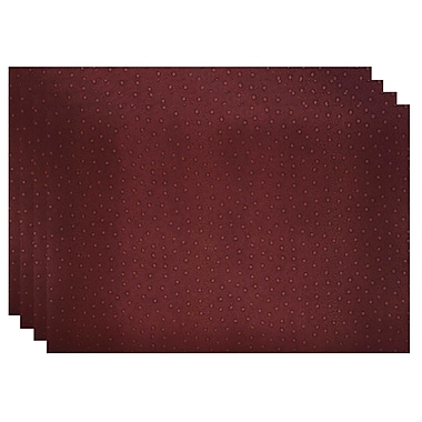 Dainty Home Peacock Placemat; Burgundy