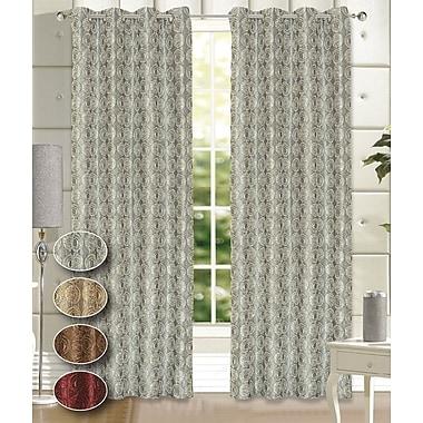 Dainty Home Twilight Room Darkening Curtain Panels (Set of 2); Silver