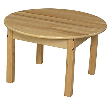 Wood Designs 30'' Round Activity Table; 17'' H x 30'' W x 30'' D