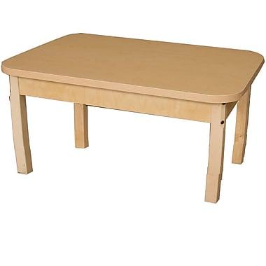 Wood Designs 36'' x 24'' Rectangular Activity Table; 15'' H x 24'' W x 36'' D