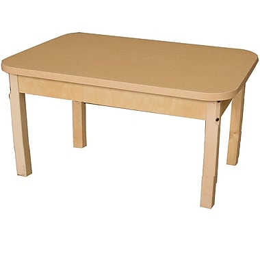 Wood Designs 36'' x 24'' Rectangular Activity Table; 17'' H x 24'' W x 36'' D