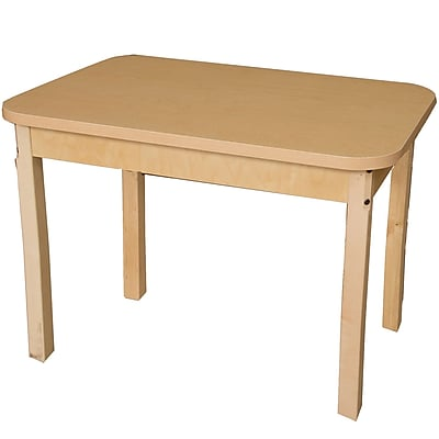 Wood Designs 36'' x 24'' Rectangular Activity Table; 27'' H x 24'' W x 36'' D