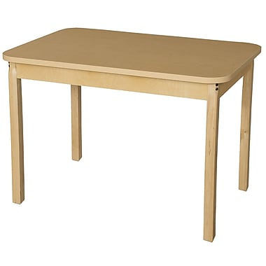 Wood Designs 44'' x 30'' Rectangular Activity Table; 30'' H x 30'' W x 44'' D