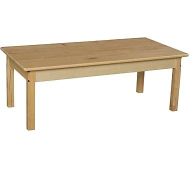 Wood Designs 48'' x 24'' Rectangular Activity Table; 27'' H x 24'' W x 48'' D