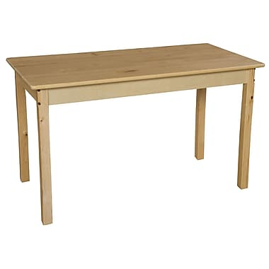 Wood Designs 48'' x 24'' Rectangular Activity Table; 17'' H x 24'' W x 48'' D