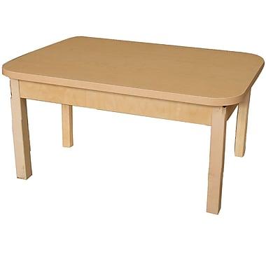 Wood Designs 48'' x 24'' Rectangular Activity Table; 15'' H x 48'' W x 24'' D