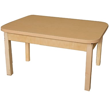 Wood Designs 48'' x 24'' Rectangular Activity Table; 17'' H x 48'' W x 24'' D