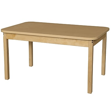 Wood Designs 48'' x 30'' Rectangular Activity Table; 15'' H x 30'' W x 48'' D
