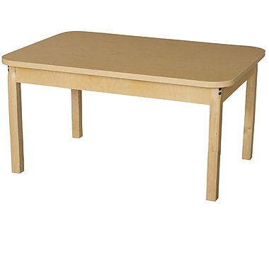Wood Designs 44'' x 30'' Rectangular Activity Table; 15'' H x 30'' W x 44'' D