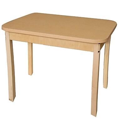 Wood Designs 48'' x 24'' Rectangular Activity Table; 30'' H x 48'' W x 24'' D