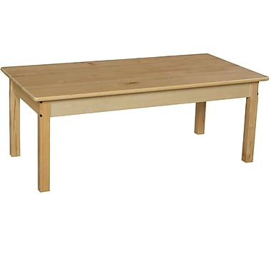 Wood Designs 48'' x 24'' Rectangular Activity Table; 30'' H x 24'' W x 48'' D
