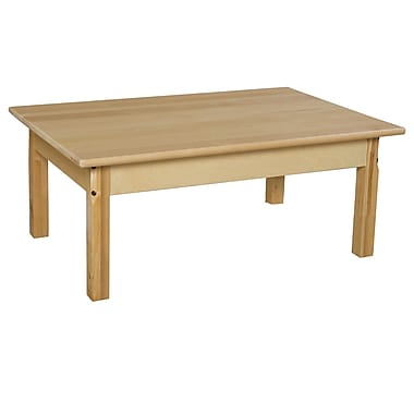 Wood Designs 36'' x 24'' Rectangular Activity Table; 15'' H x 36'' W x 24'' D
